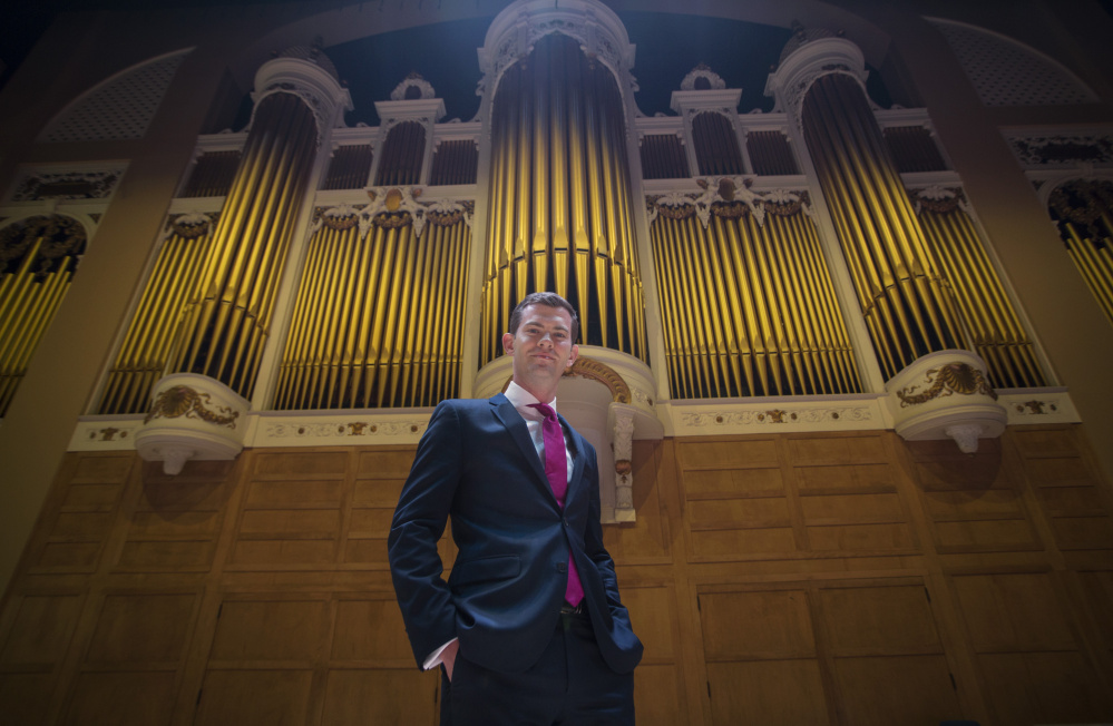 James Kennerley and the Kotzschmar organ Portland Press Herald Staff photo by Derek Davis